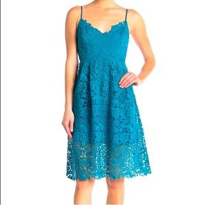 Turquoise lace ASTR dress from Nordstrom